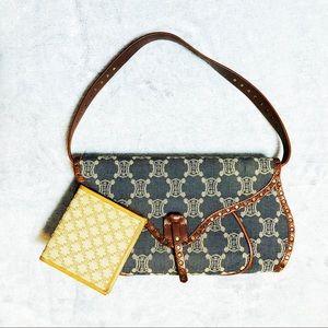 CELINE Vintage Denim/Leather Purse & Bifold Wallet